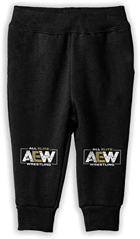 AEW All Elite Wrestling ロングパンツ スウェットパンツ 男の子 女の子 キッズ 普段着 スクール カジュアル 吸汗 伸縮性 通気 耐久性 春秋 肌触りよく 柔らかい 下着 入学式