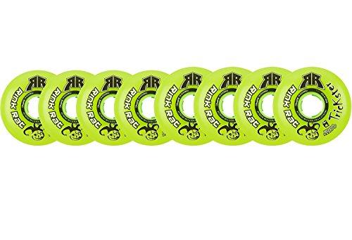 Rink Rat Wheels 80mm / 76mm Hilo 76a Trickster Green Inline Indoor Roller Hockey ()