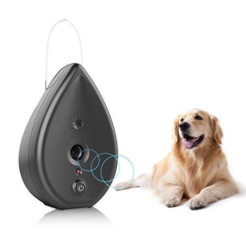 BIG DEAL Automatic Ultrasonic Modus Indoor Bark Control Anti Barking Device in Water Droplet Shape (Grey)