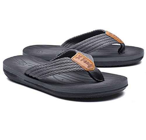 Street Classical Slip Slip Arch Flip on Skate Surf Sandals Flops Anti Thongs Slippers Grey Support Mens ATxnWHaW