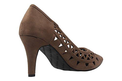 ANDRES MACHADO - Damen Pumps - Braun Schuhe in Übergrößen