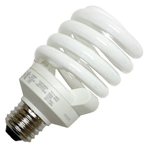 - (12-Pack) TCP 48923SS41K 23-watt 4100-Kelvin Full Springlamp CFL Shatter Coat