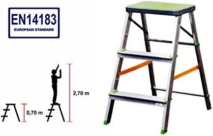 Silbor M257461 - Taburete de aluminio de 3 peldaños: Amazon.es: Bricolaje y herramientas