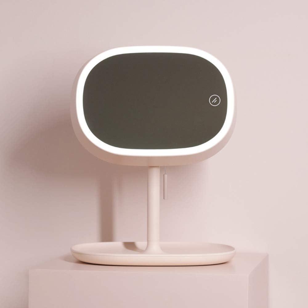 Espejo de vanidad cosmético, Espejo de Maquillaje de lámpara de Mesa de Segunda generación, Espejo de Maquillaje LED y lámpara de Lectura - Giratorio 180 Grados, Blanco