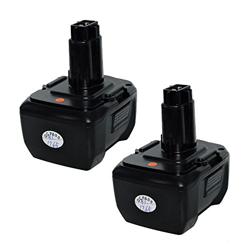 2pk Replacement 4Ah Lithium-Ion Battery and Charger set for DeWALT 14.4V DC9091