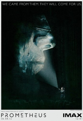 PROMETHEUS IMAX MIDNIGHT SHOWING 13.5x20 INCH PROMO MOVIE POSTER