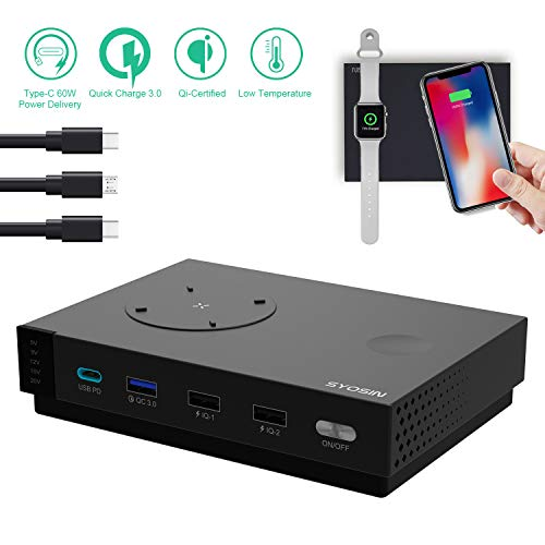 [Constant Temperature] QI Charging Station Dock & Organizer for Multi Device