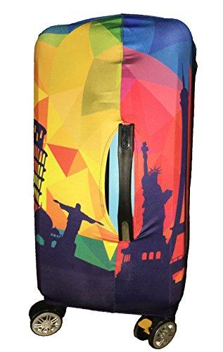 Myosotis510 Cute 3D Luggage Protector Suitcase Cover 18-32 Inch