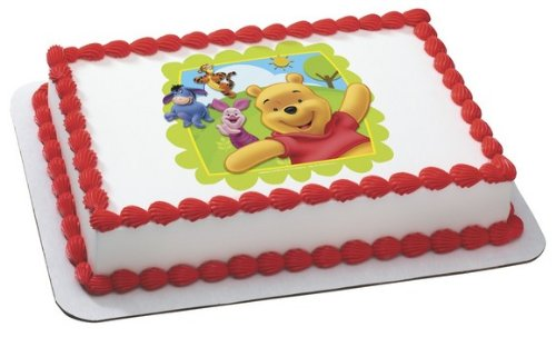 WINNIE THE POOH BEAR TIGGER EYORE PIGLET RABBIT FRIENDS AT PLAY Edible Image FROSTING SHEET Cake Topper