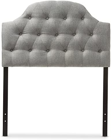 picture of Baxton Studio Maugier Modern and Contemporary Grey Fabric Upholstered Button