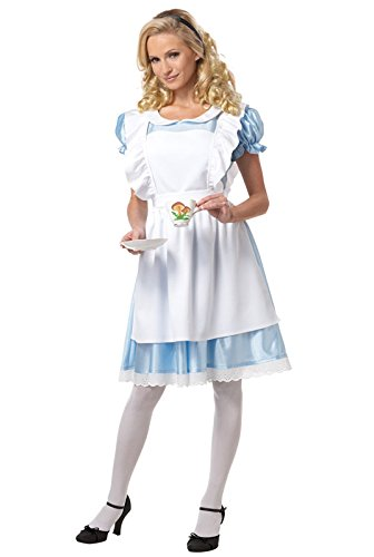 [California Costumes Women's Alice Costume,White/Blue,Large] (Grady Twins Costume)