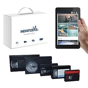 memorable Video Transfer Service (VHS, 8mm, Hi-8, MiniDV) to Prime Photos - 4 Tapes