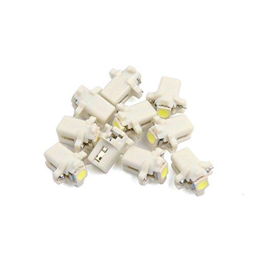 eDealMax 10pcs Bianco T5 B8.3D lampada del LED del calibro cruscotto Strumento Interni Luce