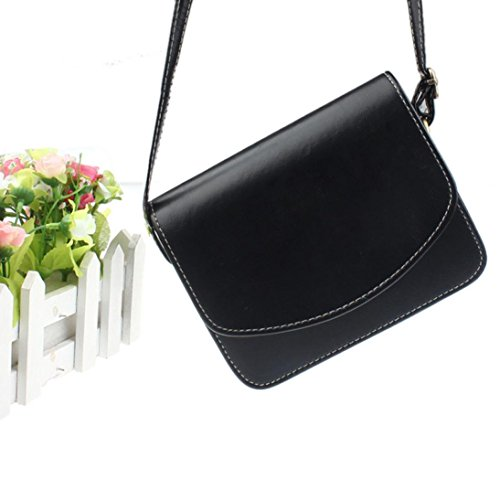 Teen Women by Bags Girls Fashionable T Black Mini Bag Body Handbags Leather TOPUNDER for Casual Shoulder Cross 1nP6n4