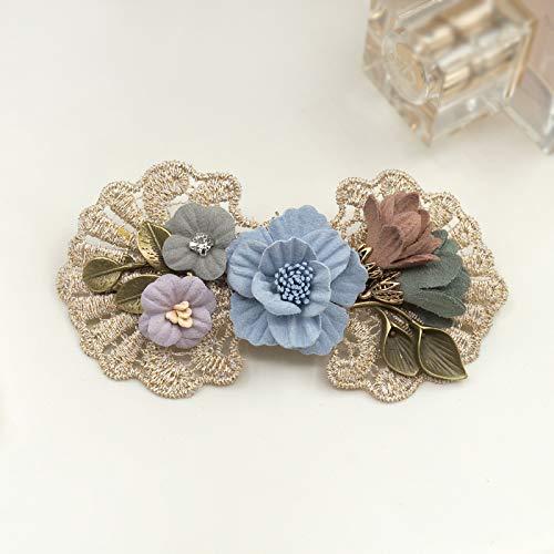 Hair Clip Jewelry Fabric Fasce Elegant Cerchietti I Word Clip Capelli Lady Head New S Adult Top Flower Fresh Spring Bg7qp