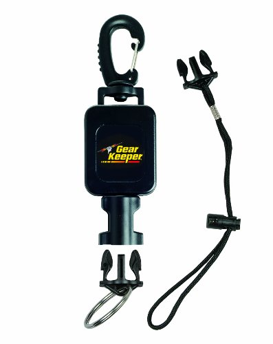 Aqualung Diving Gear - Hammerhead Industries Gear Keeper RT4-5913 Compact Console Retractor Large Heavy Duty Snap Clip Mount with Q/C-II Split Ring and Lanyard Accessory