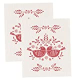 Now Designs Swedish Dishcloth, Set of Two, Meadowland, Set of 2, Print, 2 Piece