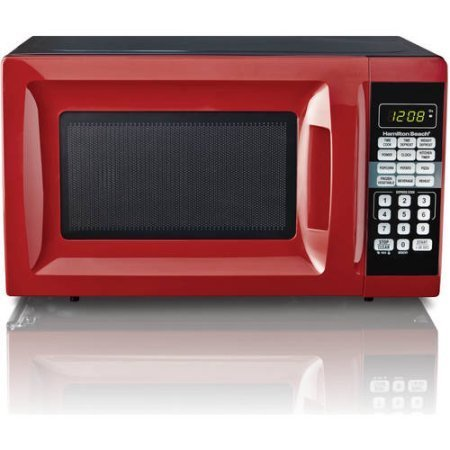 0.7 cu ft Microwave Oven, Red Microwave Ovens