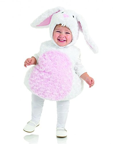 Underwraps Baby's Rabbit Belly-Babies, White/Pink, Medium - Comfortable Toddler Halloween Costumes