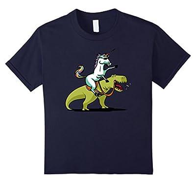 Unicorn Riding A T-Rex Dinosaur Funny Fantasy T-Shirt