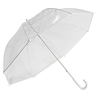 Elite Rain Umbrella Clear Golf-Sized Umbrella - White Trim