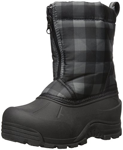 Northside Icicle Snow Boot (Toddler/Little Kid/Big Kid), Black/Gray, 12 M US Little Kid (Toddler Size 12 Snow Boots)