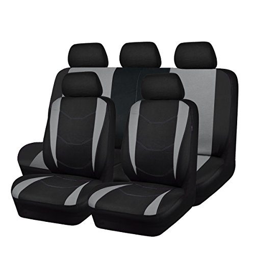 - NEW ARRIVAL- CAR PASS Sporty Universal fit Car Seat Covers with opening holes for headrest and seatbelt,fit for Suv,Van,Sedans,Trucks