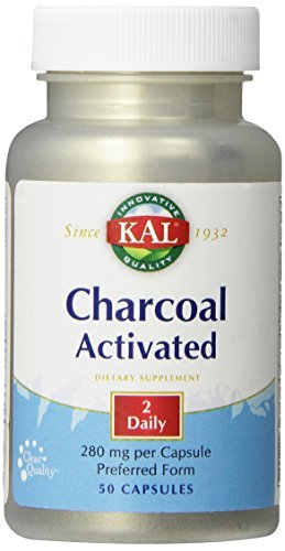 KAL Charcoal Tablets, 280 mg, 50 Count by Kal (Kal Charcoal)
