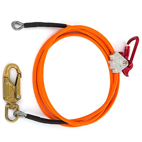Happybuy Steel Wire Core Flip Line Kit 1/2'' X 12' Wire Core Flipline with Triple Lock Carabiner and Steel Swivel Snap Wire Core Flipline System for Arborists Climbers Tree Climbers (1/2'' X 12') by Happybuy (Image #3)