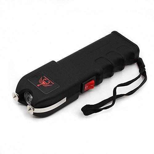 Scorpion Gun Stun - Red Scorpion 928 Heavy Duty Stun Gun 16 Billion Volts Rechargeable with LED Tactical Flashlight