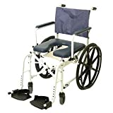 Mariner™ Rehab Shower Commode Wheelchair Seat Size: 18.25'' W x 18.25'' D, Wheel Type: 23'' Treaded Urethane Tires