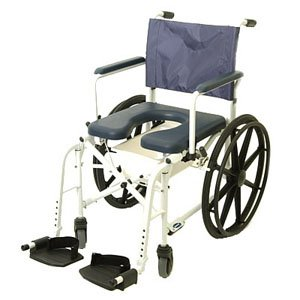 Mariner™ Rehab Shower Commode Wheelchair Seat Size: 18.25