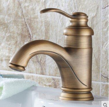5151buyworld Top Qualität Wasserhahn Messing Badezimmer Bronze-Finish Badezimmer Hot und kalten Wasserhahn Spüle Mischbatterie Badezimmer faucetfor Badezimmer Küche Home Gaden (begriffsklärung), Stil 1,