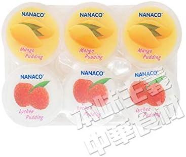 タイ産2種果物のプリン(ライチ/マンゴー) ゼリー入り80g・6個入り・お手頃・夏・デザート・冷やし・子供に大人気・タイ・本場の味