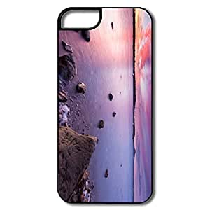 IPhone 5S Cases, Half Moon Bay Sunset White/black Cover For IPhone 5 5S
