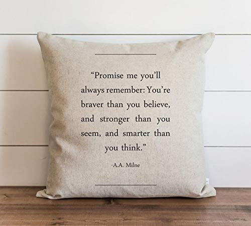Jeartyca Book Collection A.A. Milne 18 x 18 Pillow Cover Everyday Throw Pillow Gift Accent Pillow Cushion Cover