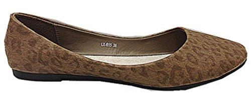 mocassines planas gris Bailarinas Botas LX Mujeres color B15 Eq64F