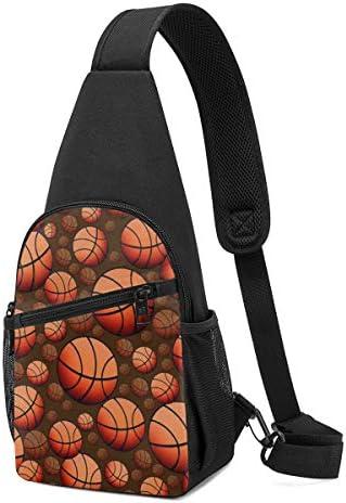 バスケットボール 斜め掛け ボディ肩掛け ショルダーバッグ ワンショルダーバッグ メンズ 多機能レジャーバックパック 軽量 大容量
