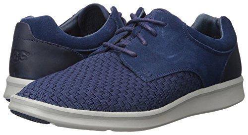 Ugg Australia Mens Hepner Woven Black Suede Mens Shoes Blu