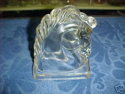 Crystal Glass Horse Head by Federal Glass - Glass Crystal Federal