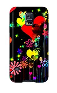 ZippyDoritEduard FQpWNFA2030EevrZ Case For Galaxy S5 With Nice Funky Colorful Hearts Appearance
