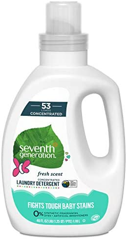 Seventh Generation Concentrated Baby Laundry Detergent, Fresh Scent, 40 oz (53 Loads)