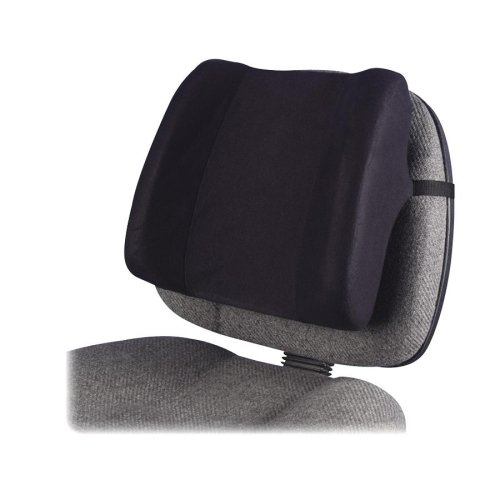 Wholesale CASE of 5 - Fellowes High-Profile Backrests-Backrest, High Profile, 13''x4''x12'', Black by FEL