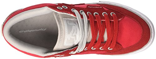 DrunknMunky Boston Classic Mid, Zapatillas de Tenis para Hombre Rosso (Red/Grey)