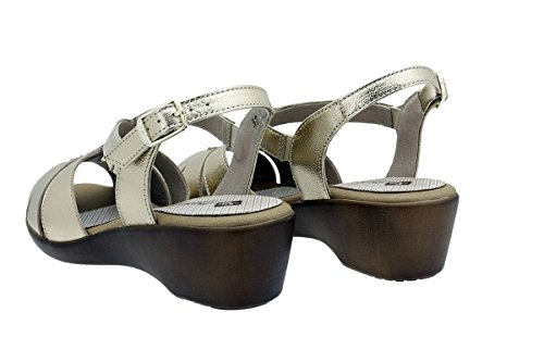 Ante Zapato Confort 180555 Piesanto Metal Orion Cuña Platino Sandalia 4v5RRq