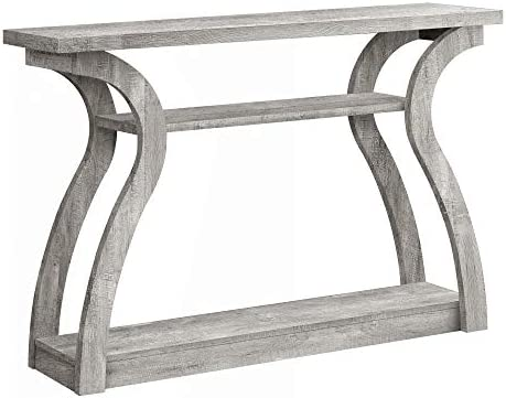 Monarch Specialties Home Entryway Sleek Stylish 47 Inch Long Large Surface Area Wood Look Accent Console Table, Gray