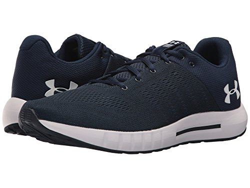 [UNDER ARMOUR(アンダーアーマー)] メンズランニングシューズ?スニーカー?靴 UA Micro G Pursuit Academy/Black/White 10.5 (28.5cm) 4E - Extra Wide