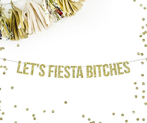 Fiesta Streamer (Lets Fiesta Bitches Party Banner || fiesta theme party decorations bachelorette cactus sombrero mustache party cinco de mayo)