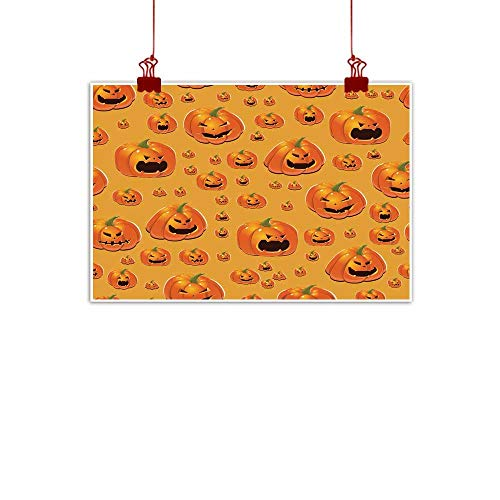 Mannwarehouse Simulation Oil Painting Halloween Background with Pumpkins Decorative Painted Sofa Background Wall 35