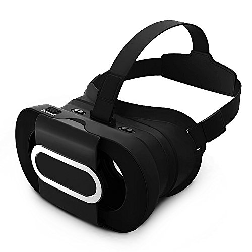 Foldable VR headset, No dizzy feeling, Adjustable & Portable Virtual Reality for VR Games and 3D Movie, Compatible with 4.5-6.0 inch screens,IOS & Android